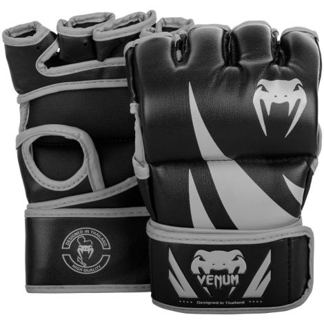 VENUM CHALLENGER MMA GLOVES - WITHOUT THUMB-Black/Grey-M