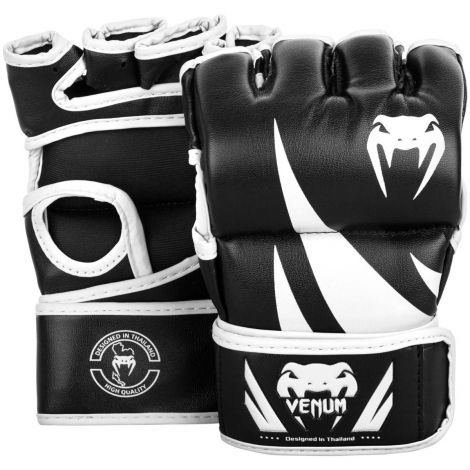 VENUM CHALLENGER MMA GLOVES - WITHOUT THUMB-Black/White-M
