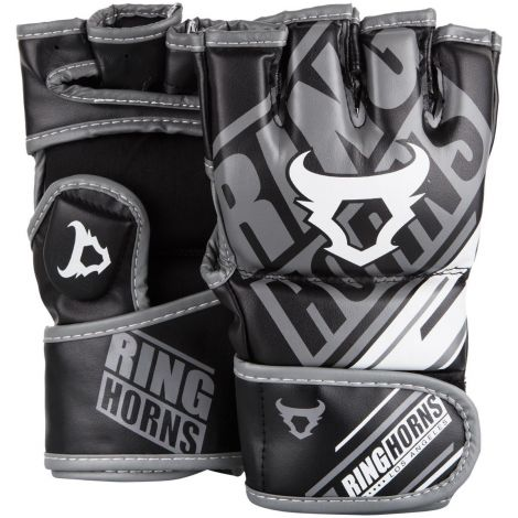 RINGHORNS NITRO MMA GLOVES-Black-M