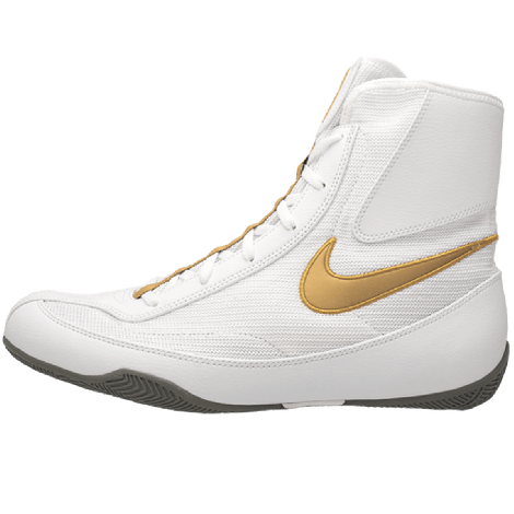 NIKE MACHOMAI 2 MID BOXING SHOES - WHITE/GOLD