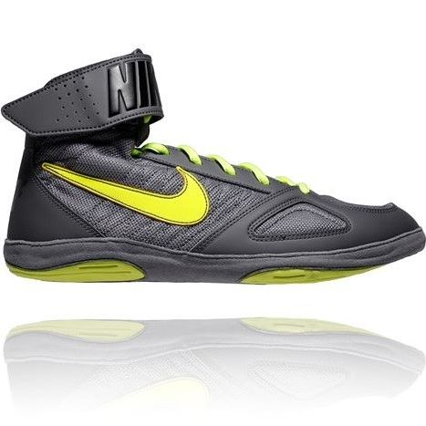 NIKE TAKEDOWN WRESTLING SHOES - GREY/VOLT