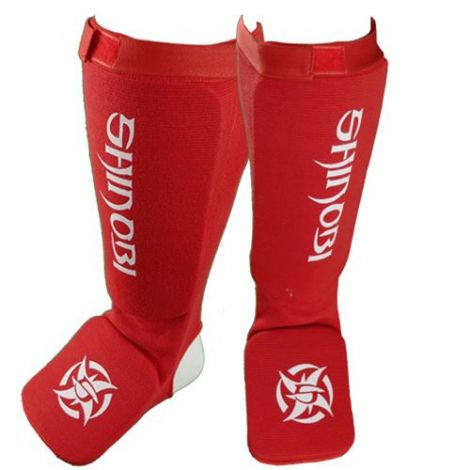 SHINOBI SHIN AND INSTEP GUARDS-Red