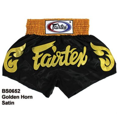 FAIRTEX MUAY THAI SHORTS - GOLDEN HORN - BS0652