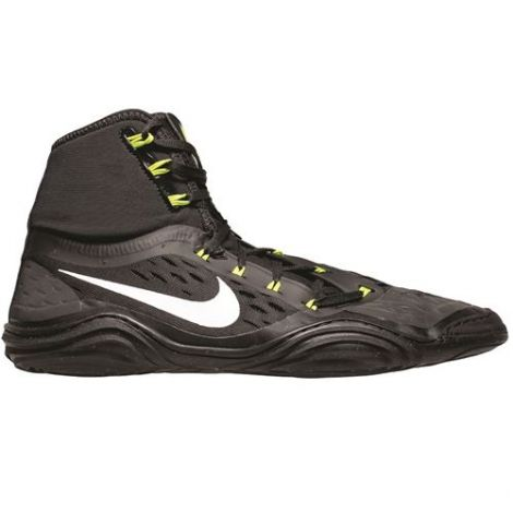 NIKE HYPERSWEEP WRESTLING SHOES - BLACK/WHITE-VOLT