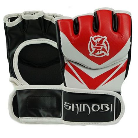 SHINOBI RAVEN MMA GLOVES-Red-M