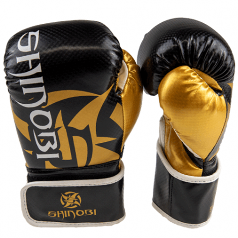 SHINOBI SEKIRO BOXING GLOVES-Black/Gold-16oz