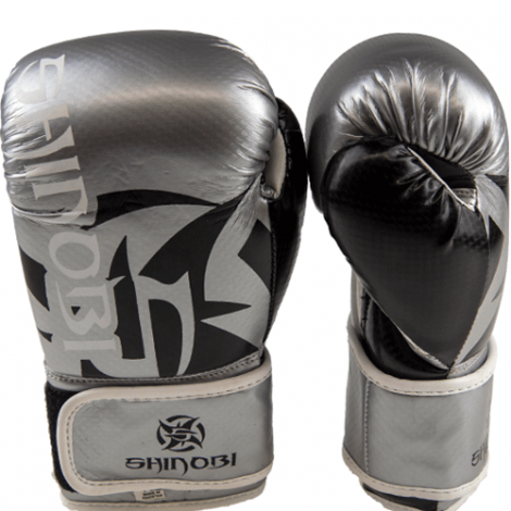 SHINOBI SEKIRO BOXING GLOVES-Black/Silver-10oz