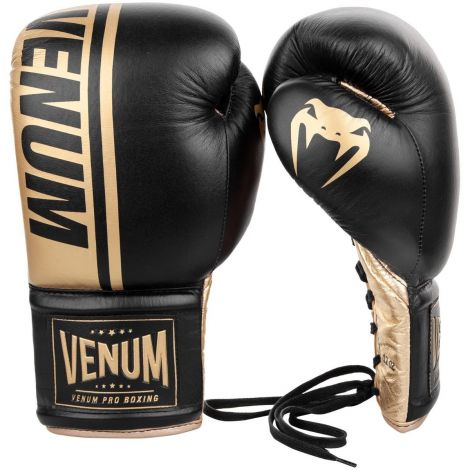 VENUM SHIELD PRO BOXING GLOVES - WITH LACES