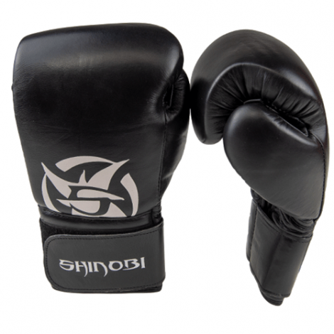 SHINOBI ZERO BOXING GLOVES-Black-10oz
