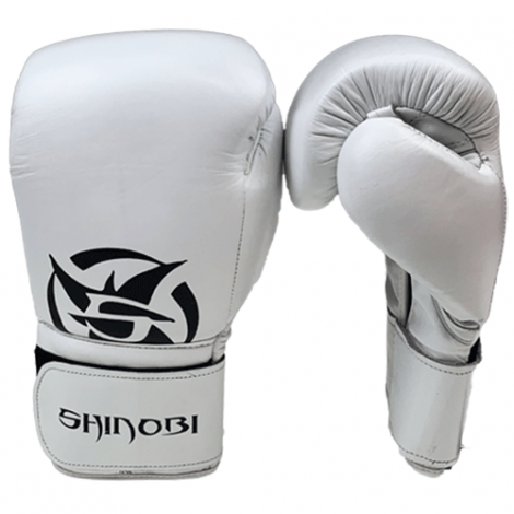 SHINOBI ZERO BOXING GLOVES-White-12oz
