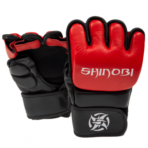 SHINOBI ZERO MMA GLOVES-Black/Red-S