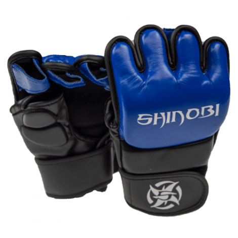 SHINOBI ZERO MMA GLOVES-Black/Blue-S