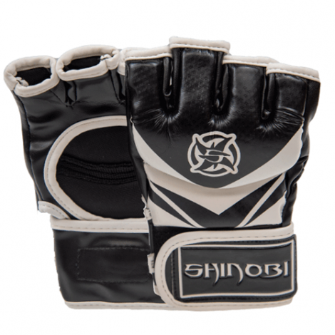 SHINOBI RAVEN MMA GLOVES-Black-S