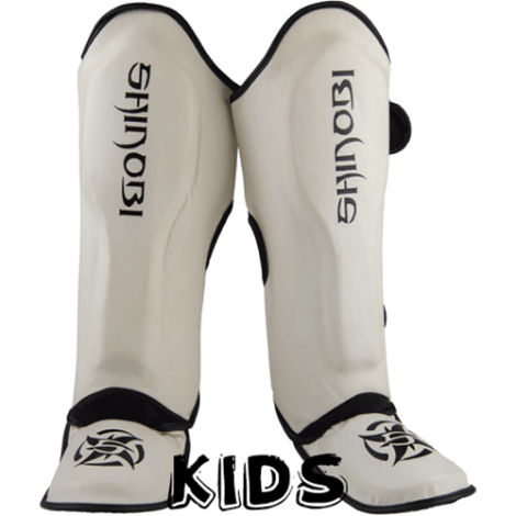 SHINOBI RAVEN SHINGUARDS - KIDS-White-9-11