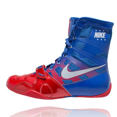 NIKE HYPERKO BOXING SHOES - RED/SILVER/ROYAL