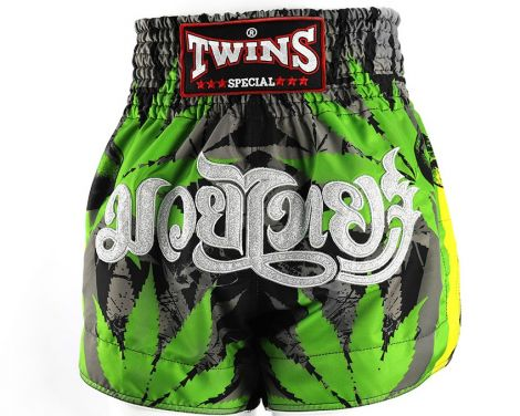 TWINS GRASS MUAY THAI SHORTS