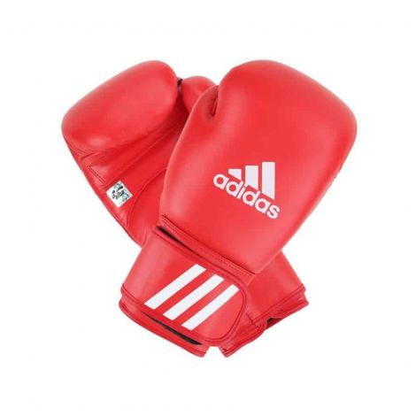 ADIDAS AIBA APPROVED BOXING GLOVES-Red-10oz