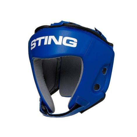 STING COMPETITION HEAD GUARD AIBA APPROVED-Blue-M