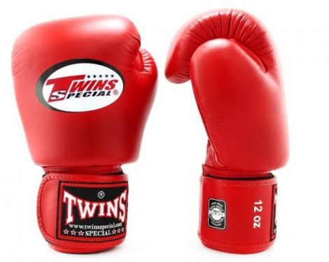 TWINS BOXING GLOVES - BGVL3-Red-12oz