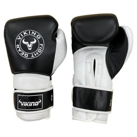 Viking Savage Leather Wrist Locking Boxing Gloves