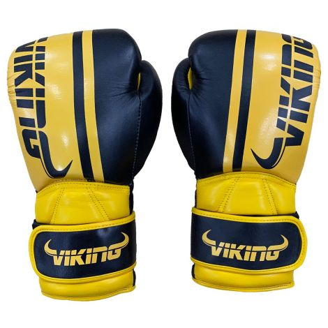 Viking Odin Elite Leather Dual Wrist Strap Boxing Gloves