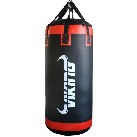 Viking Baltic Leather Pro Super Heavy Punching Bag-Black/Red