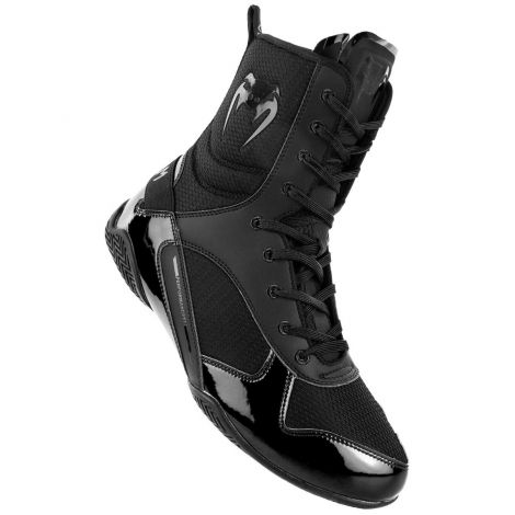 VENUM ELITE BOXING SHOES - BLACK/BLACK