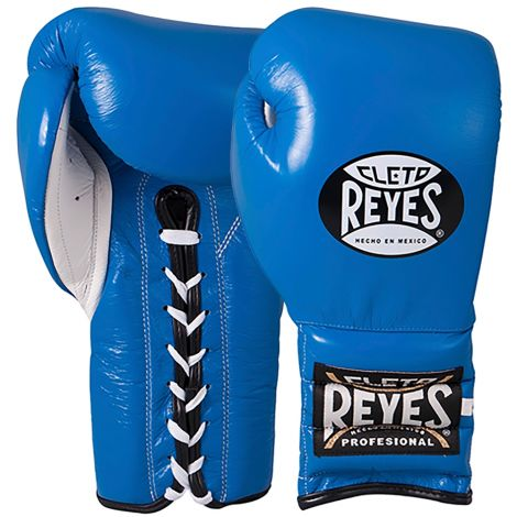 CLETO REYES TRAINING BOXING GLOVES WITH LACES - BLUE-12oz