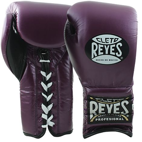 CLETO REYES TRAINING BOXING GLOVES WITH LACES - PURPLE-12oz
