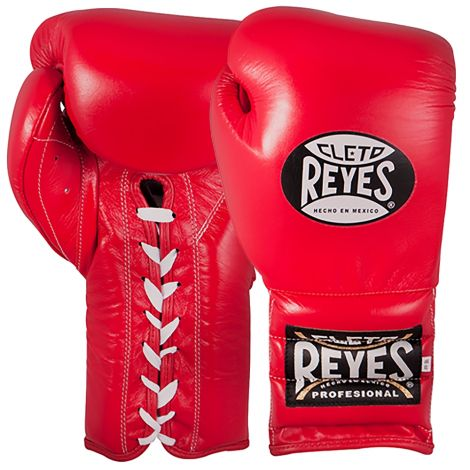 CLETO REYES TRAINING BOXING GLOVES WITH LACES - RED-12oz