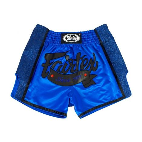 FAIRTEX ROYAL BLUE SLIM CUT MUAY THAI BOXING SHORTS - BS1702