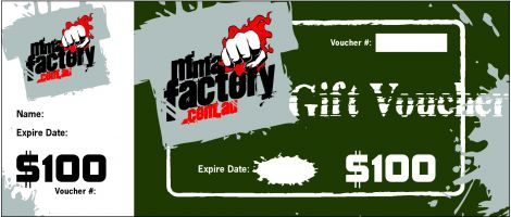 MMA Factory $100 Gift Card