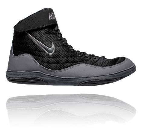 NIKE INFLICT 3 WRESTLING SHOES - BLACK/GREY/ANTH