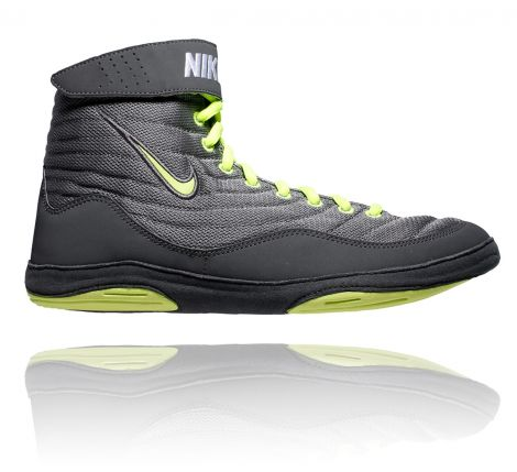 NIKE INFLICT 3 WRESTLING SHOES - GREY/VOLT/DARK GREY