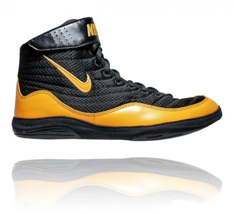 NIKE INFLICT 3 WRESTLING SHOES - BLACK/UNIVERSITY GOLD