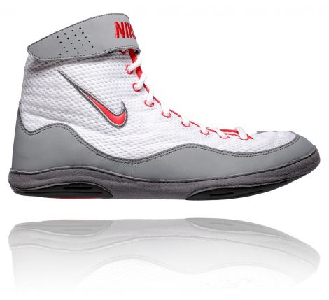 NIKE INFLICT 3 WRESTLING SHOES - WHITE/UNI RED/COOL GREY