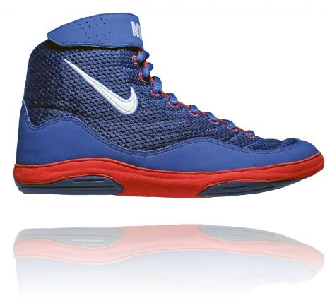 NIKE INFLICT 3 WRESTLING SHOES - ROYAL/WHITE/UNIVERSITY RED