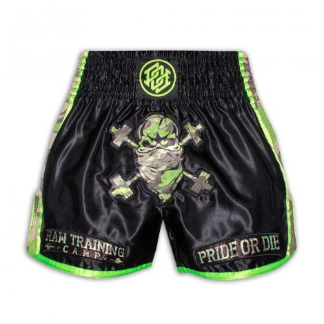 Pride Or Die Raw Training Camp Muay Thai Shorts - Jungle