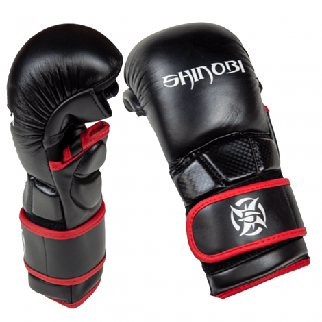 SHINOBI COMBAT SPARRING MMA GLOVES-Black-L/XL