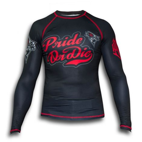 PRIDE OR DIE NO RULES RASHGUARD