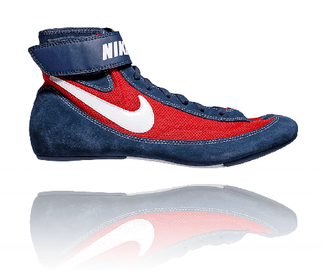 NIKE SPEEDSWEEP VIII WRESTLING SHOES - NAVY/RED/WHITE
