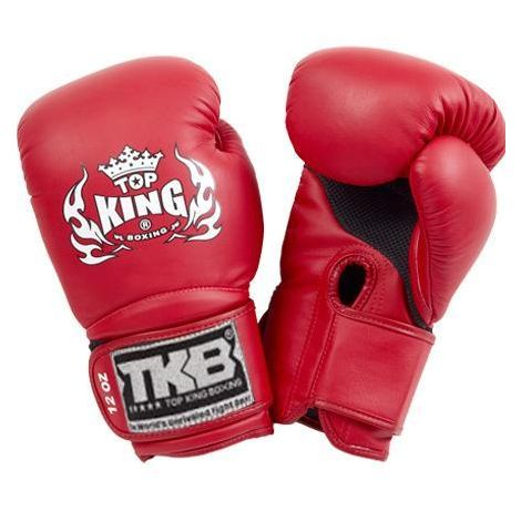 Top King Super Air Boxing Gloves-Red-12oz