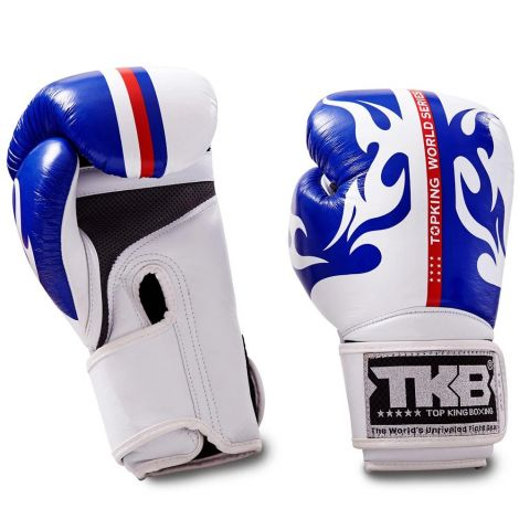 Top King World Series Boxing Gloves-Blue-12oz