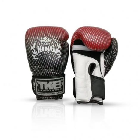 Top King Super Star Boxing Gloves -Red-12oz