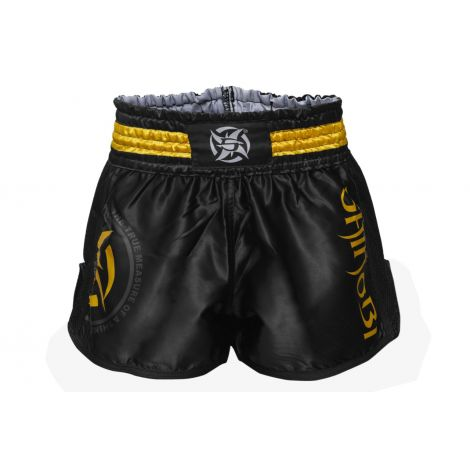 Shinobi Shuriken  Muay Thai Shorts-Black/Gold-S